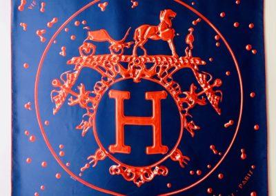 Hermès silkkihuivi Vif Argent